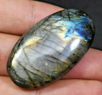 73.0 Ct 100% Natural Fire Labradorite AGSL Certified Oval Cut Untreated Gem