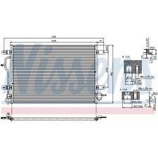 1 Condenseur, climatisation NISSENS 94583 convient à AUDI