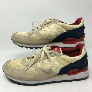 Saucony Shadow XT 600 Mens Athletic Running Shoes 60687 Ivory Multicolor 11.5