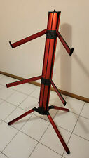 K&M 18860 Spider-Pro Double-Tier Keyboard Stand (Red) with Bag