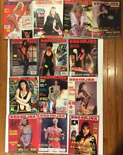 DRACULINA  LOT OF 13 Issues Dyanne Thorne, Brinke Stevens, Julie Strain Vintage