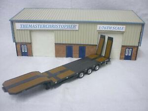 Oxford Diecast/Modern 1:76th Truck/Roadscene Plain Grey Nooteboom Low Loader