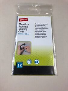 Staples Microfibre Technical Cleaning Cloth Wipe 180mm x 150mm Computer Camera's