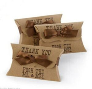 Sample 1 xThanks from the Mr & Mrs - Wedding Pillow Favour Boxes- New