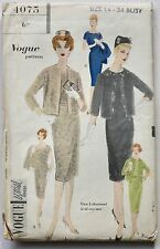 All-Over-Lace VINTAGE COUTURE style DRESS & JACKET sewing pattern 50s 60s