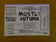 MOSTLY AUTUMN CONCERT TICKET STUB 27 MAY 2006 THE ROBIN 2 HEATHER FINDLAY