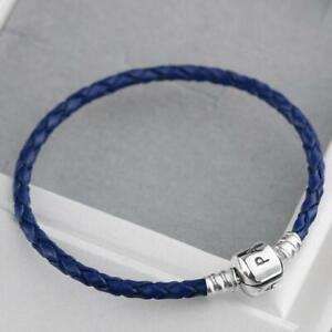 PANDORA Leather 19 cm/7.5 in Bracelet Fashion Charms & Charm ...