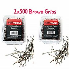 """HairTools 2"""" Brown Waved Grips 500 per Box-Duo Pack x2 Boxes"""