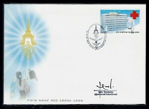 Thailand 2006 FDC Red Cross (a) + signed designer