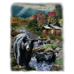 Bears At The Cabin  Tshirt   Sizes/Colors