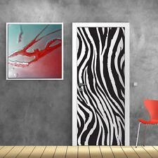 PT0005 Wall Stickers Adesivi Murali Adesivo Porta zebra decoro 100x210cm