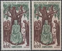 """FRANCE TIMBRE N° 1539 """" LOUIS IX  SAINT LOUIS  VARIETE DE PAPIER """" NEUFS xx LUXE"""
