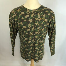 Rare Vintage 1980s Camel Cigarettes Thermal Camo Shirt Hunting Trucker L