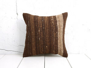 "16"" x 16"" Pillow Cover Kilim Pillow Cover OLD FAST Shipment With UPS 04924"