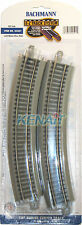 "Bachmann HO Scale E-Z Track System 18"" Radius Curved Track Gray Roadbed #44501"