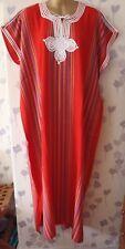 "LADIES DJELLABA / KAFTAN / LONG DRESS RED 56"" WIDE x 50"" LONG"
