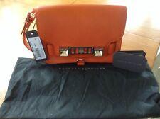 Proenza Schouler PS11 Wristlet Clutch Bag, Orange Leather