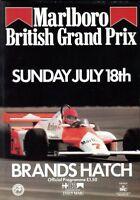 British Grand Prix 1982 Brands Hatch official programme + lap chart