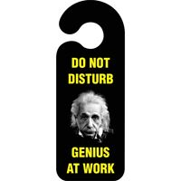 Do Not Disturb Genius At Work Door Hanger Sign … - Novelty Roomoffice Hanging