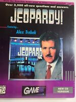 Jeopardy Vintage 1993 Alex Trebek CD Game Macintosh Apple Computer Game (S)