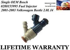 Single Genuine Bosch Fuel Injector For 2001-2003 Volkswagen Beetle 2.0L I4