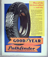 Goodyear Pathfinder Tire PRINT AD - 1931 ~~ tires, car, automobile, auto