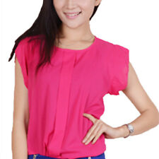 Womens Summer Casual Chiffon Sleeveless Vest T Shirt Blouse Tops Tee OL Work