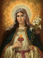 LMOP10 100% hand-painted modern oil painting art on canvas-SACRED HEART OF MARY