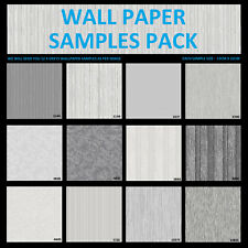 12 x Wall Paper Samples GREY 3D LOOK Textured Feature Wallpaper Sample GREYS DIY