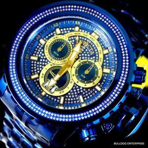 Invicta Sea Hunter Gen II 1.77CTW Diamond Blue Label Steel Swiss 58mm Watch New