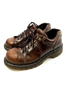 Dr Doc Martens Womens size 7 Mens size 6 US Brown Leather Oxfords Shoes