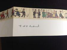 Carte de voeux Fondation Hergé 1996 signée Tintin TBE