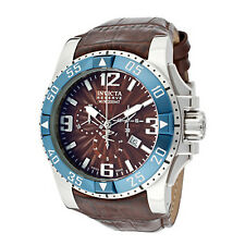 New Mens Invicta 10912 Excursion Reserve Swiss Made Chronograph Brown Dial Watch