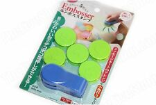 SET OF 5 ASSORTED PAPER EMBOSSER / EMBOSSING TOOL - US SELLER