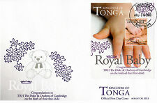Tonga 2013 FDC Royal Baby 1v S/S Cover Birth Prince George William Kate Duke