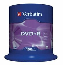 100 Verbatim Rohlinge DVD+R 4,7GB 16x Spindel
