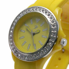 Reflex Ladies Watch Diamante Bezel Rubber Strap Yellow CLEARANCE PRICE!!