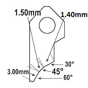 B4 45°-1.50mm Valve seat cutting insert bit tip,SERDI ROTTLER NEWEN SUNNEN