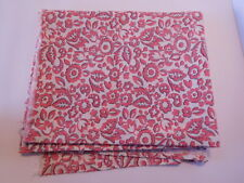 Vintage Open FEEDSACK FEEDBAG Quilt Fabric Pink & White Flowers