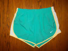 NIKE DRI-FIT AQUA BLUE ATHLETIC RUNNING SHORTS WITH LINER GIRLS LARGE EXCELLENT