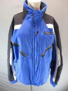 Spyder Size M Mens Blue/Black Full Zip Waterproof 5000 No Hood Ski Jacket T978