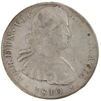 Raw 1810 Mexico 8R Uncertified Ungraded Mexican Silver Coin