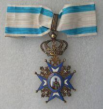 COMMANDEUR ORDRE DE SAINT-SAVA DE SERBIE  manteau rouge      medaille
