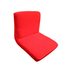 Wedding Dining Bar Stool Low Short Back Chair Slip Cover Seat Cover Red