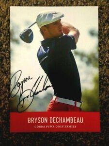 BRYSON DECHAMBEAU RARE AUTOGRAPH OVER-SIZED GOLF CARD AUTO SIGNED COA US OPEN
