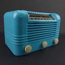 1946 RCA Radiola AM Radio Model 56X2 Beautiful Turquoise Color - Works