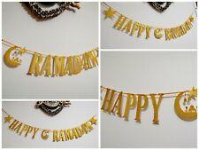 EID MUBARAK  /RAMADAN decorations Bunting Banner gold glitter Handmade *2m Long*