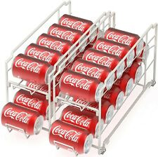 Canned Food Dispenser Can Organizer Refrigerator Soda Coke Storage Rack 2 Pack