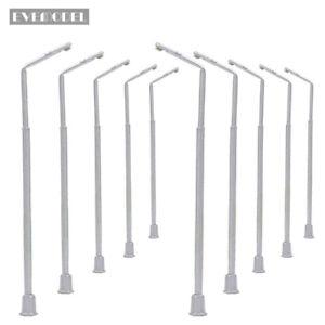 10 Stk. LED Lampen 105mm  Spur 0 / H0 12V Leuchte Straßenlampen NEU