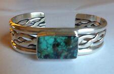 RVF Roger Francisco Turquoise Sterling Silver Navajo Cuff Bracelet Designer MINT